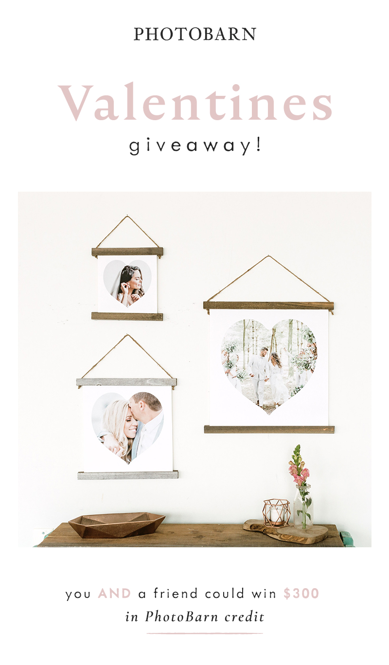Valentines Giveaway! You AND a friend could win $300 in PhotoBarn credit