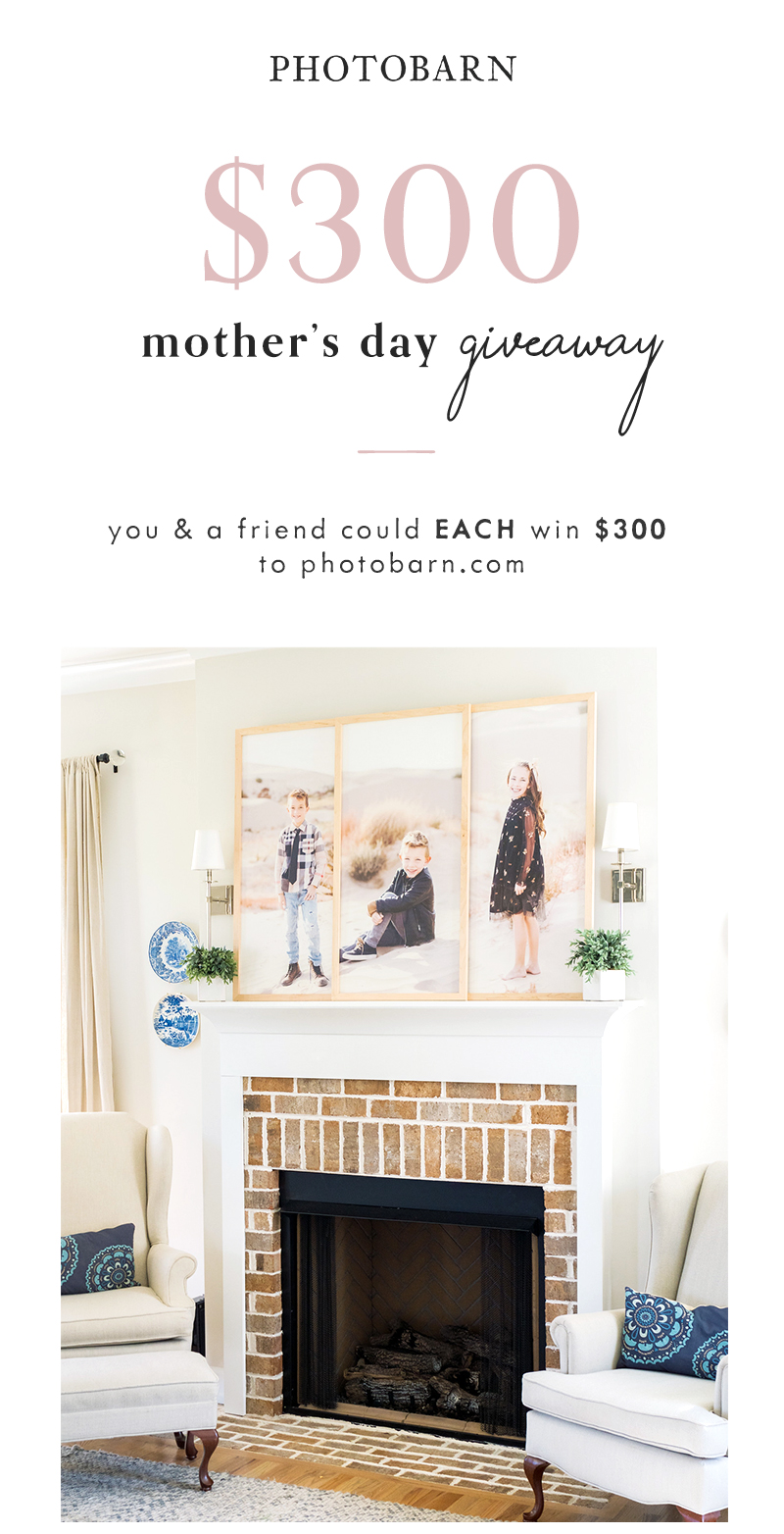 $300 Mother's Day Giveaway! You and a friend could EACH win $300 to PhotoBarn.com